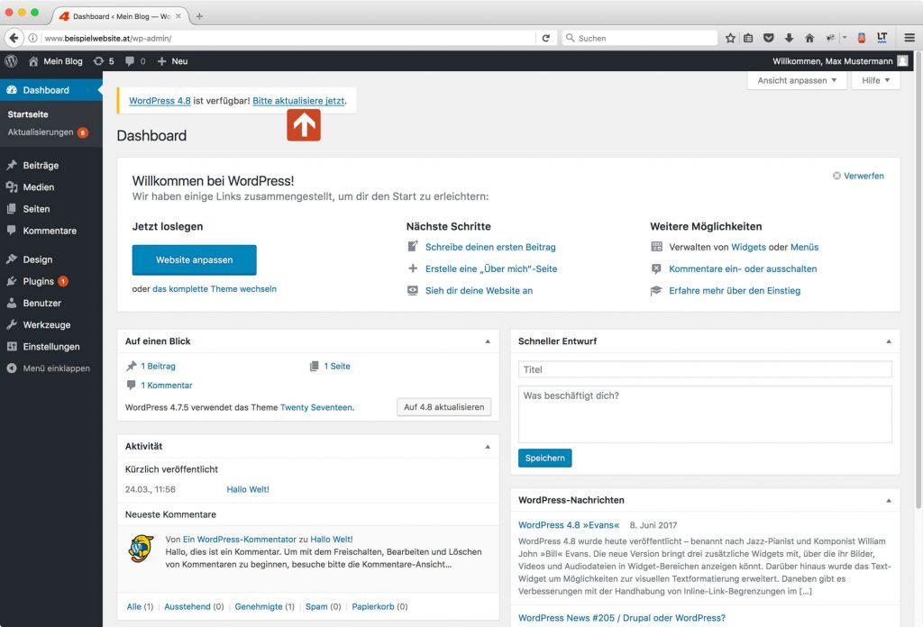 Erfahre mehr über das Backend von WordPress